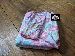 Sew Sawdust makes a baby blanket gift set from flannel